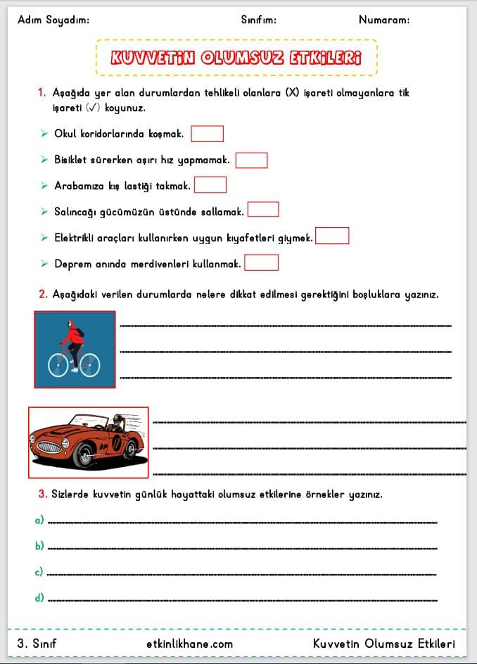 3. sınıf kuvvetin olumsuz etkileri