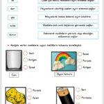 3. Sınıf Maddeyi Niteleyen Özellikler Etkinliği 1
